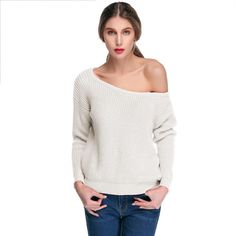 ACEVOG Brand Knitted Sweater Fashion Casual Solid O-neck Long Sleeve Autumn Winter Pullover Sweater Women Ladies Knitwear PLUS SIZE