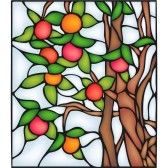 Apple tree, stained glass window stock photography