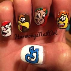 Nail art that shows off a true love for Trix, Cocoa Puffs, Lucky Charms and Honey Nut Cheerios!