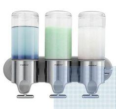 Bath Room Wall Mount Shampoo Soap Dispenser Pumps