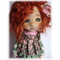 И последняя мордашка на сегодня. Огненный рыжик, эх люблю рыжих..#творю#куклаизткани#fashion#хочувhmd#интерьернаякукла#текстильнаякукла#