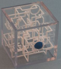 3D printed 3D Rolling Ball Maze Pirate Puzzle in Clear by EtherealMazePuzzles
