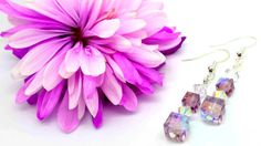 Swarovski Crystal Earrings Light Amethyst by SpiritShineOn on Etsy £7.99 #SpringColours #SpringJewellery #Earrings #SwarovskiCrystal #SwarovskiEarrings