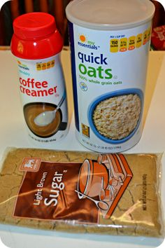 Homemade Instant Oatmeal Packets! Storebought instant oatmeal costs about $0.35/packet & these homemade ones break down to just $0.08 a pack...