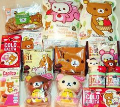 Rilakkuma, so cute Japanese Snacks, Japanese Candy, Japanese Dishes, Japanese Sweets, Japanese Food, Japanese Things, Cute Japanese Stuff, Cute Snacks, Cute Desserts