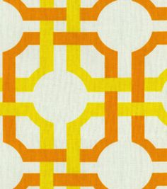Waverly Modern Essentials Fabric-Groovy Grill / Citrus