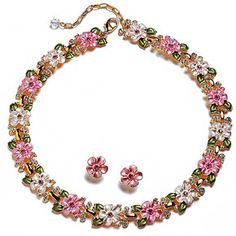 Cherry Blossom Necklace and Earrings