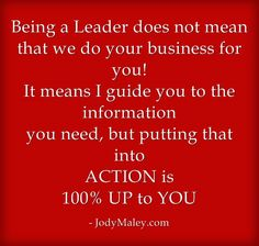 Being a Leader and really helping others!