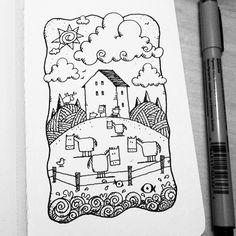 Dave Garbot — Farm & Pasture #illustration #drawing #penandink...