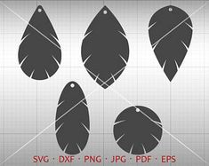 Tear Drop SVG, Tear Drop Cut file, Pendant SVG, Vector DXF, Leather Earring Jewelry Laser Cut Template Commercial Use