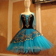 La #Esmeralda #blue #tutu #russian #style #ballet #ballerina #발레 #에스메랄다 #블루 #러시아스타일 #튜튜 #스커트  First  - dusha_c_h