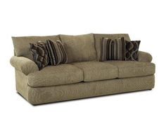 Shop for Klaussner Samantha Sofa, 465004, and other Living Room Sofas at Kittle's Furniture in Indiana and Ohio. You'll feel like you're floating on a cloud with the Samantha collection. Unattached back pillows give way to decorative pillows plus low profile arms and t-style seat cushions create a spacious seating environment.