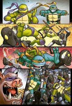 Teenage mutant ninja turtles test page 3 by OscarCelestini