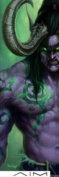 Illidan Stormrage - world of warcraft fan art | Dark elf elves, warcraft characters |  Demon Hunter | The Betrayer, Lord of Outland, Ruler of the Naga