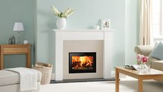 Gazco Gas Fires – 500 Edge Inset, Balanced Flue With Optional Linings – Includes Remote Control Diy Interior, Interior Design, Inset Stoves, Wood Burning Fireplace Inserts, Wall Fires, Stove Fireplace, Fireplace Ideas, Style Minimaliste, Home On The Range
