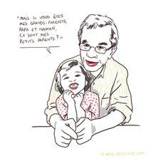 illustration bon mot enfants et grands-parents