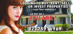 Looking To Buy, Rent, Sell or Invest Properties? Call Us 021 7591 6969 www.reginarealty.co.id