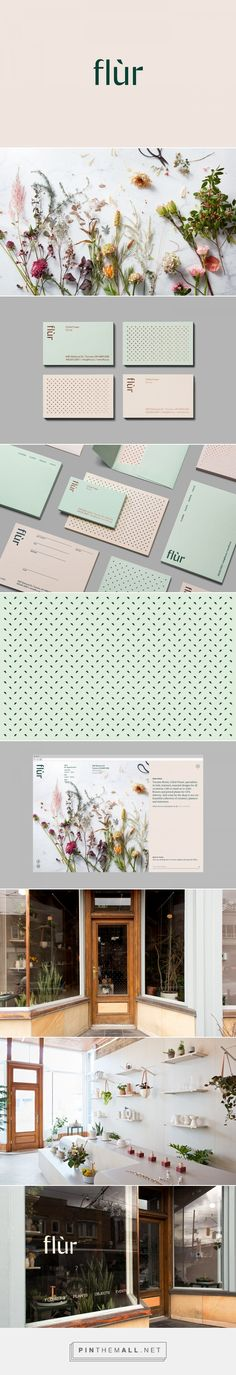 Flùr Identity on Behance... - a grouped images picture - Pin Them All