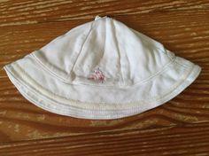 Carter's 0-3 months white flower sun hat