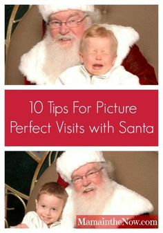 Ten Tips for Picture Perfect Visits with Santa! Take the stress and tears out of your annual visit with jolly old Santa Claus! Keeping Christmas magical involves going to whisper your wishes in Santa's ear - capture the memories without you losing your mind! These tips saved my sanity!