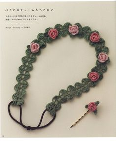 Delicate crochet necklace ♥LCJ♥ with diagram