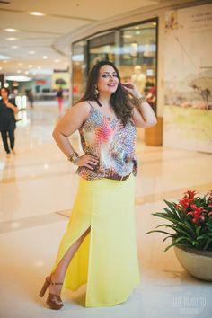 Look Plus - Saia Longa com Fenda - Débora Fernandes