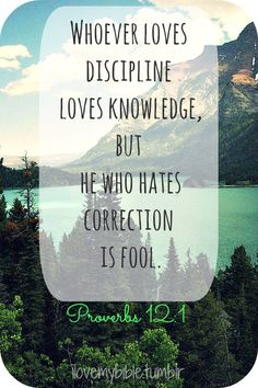 Proverbs 12:1 {learn to love discipline, because you do love knowledge & who wants to be stupid?!}