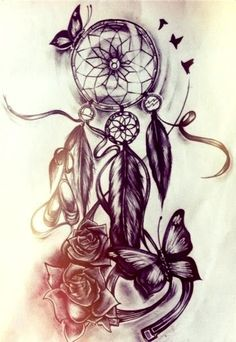 No roses or butterflies...but I like the dream catcher itself and the little birds