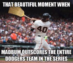 Giants swept the Dodgers!