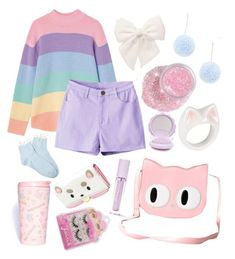 """""""Fairy Kei #14 ⭐️✨"""" by anniebeexoxo on Polyvore featuring Forever 21, Nach, Banned, Lime Crime and SANRIO"""