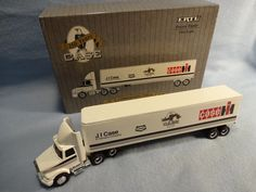 Die Cast J I Case 150 Year Commemorative Edition Tractor Trailer--1/64 from dunrovenantiques on Ruby Lane