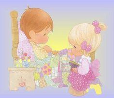Precious Moments Glitter Graphics | Backgrounds » Cartoons » precious moments