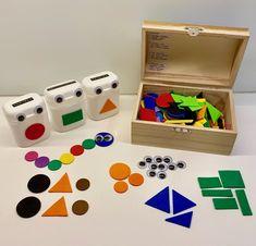 KONKREETTISTA VARHAISKASVATUSTA Kindergarten Math, Montessori, Toy Chest, Education, Toys, Decor, Table, Pranks, Activity Toys