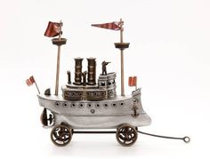 Steam #Yacht, Cast Aluminum and Bronze #Steampunk Style #Ship. $860.00, via Etsy from Scott Nelles Studios