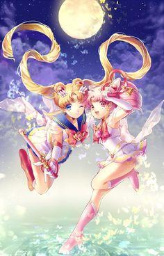 Sailor Moon and Chibi Moon: