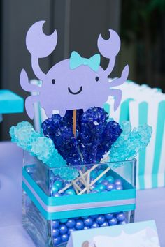 Get ready, y'all, because little Allison's mermaid themed first birthday party is one colossal splash of cuteness! Living in South Florida so near the beach, Allison's mom knew that there was no better way to join the brightness and fun of the ocean with the enchantment of children's fairy tales than to use a magical mermaid …