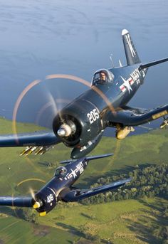 Vought F-4U Corsairs: a phenomenal moter with a wing and a seat.  Amazing!