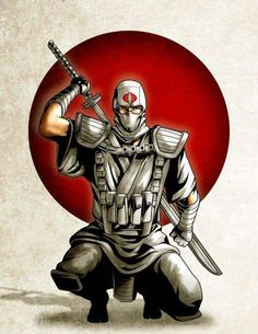 A ninja from the Cobra clan enemies of the GI Joe clan Comic Book Heroes, Comic Books Art, Comic Art, Arte Ninja, Ninja Art, Ronin Samurai, Samurai Art, Cartoon Icons, Cartoon Art