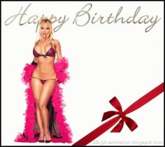 Happy Birthday Gif with a Sexy Girl Happy Birthday Biker, Happy Birthday Status, Happy Birthday Funny Humorous, Happy Birthday For Him, Funny Happy, Birthday Wishes Gif, Happy Birthday Wishes Images, Birthday Congratulations, Happy Birthday Pictures