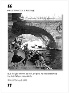 Great quote, fun card...  Dance Like No One Is Watching - Borealis Press Greeting Card