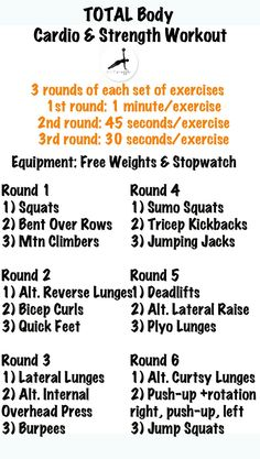 Full Body Cardio/Strength Workout