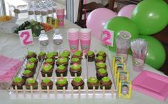 Cabbage Patch Kids Birthday Party Since the girls are still young enough that I can pick the party themes, we went with a throw back to my childhood: Cabbage Patch Kids! The focal point of the party was the cupcakes.