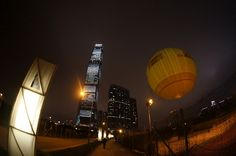 DHL Balloon at the West Kowloon Waterfront Promenade
