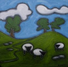 Sheep In The Valley Duffy, Sheep, Artist, Fictional Characters, Artists, Fantasy Characters