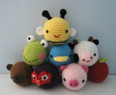 FreeNew Crochet Toys | Baby Toy Amigurumi Crochet Pattern Set