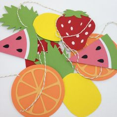 Summertime Garland Fruit Bunting Watermelon by Bcbabycreations