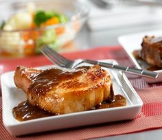 Quick Glazed Pork Chops-is a delicious and quick 30 minute skillet recipe with a brown sugar glaze. Add in a vegetable and hot cooked rice for a full meal. It is also a low calories, low fat, low cholesterol, low sodium, low carbohydrates, heart-healthy and Weight Watchers (2) PointsPlus recipe. Makes (6) servings.