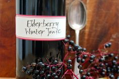 Making Elderberry Winter Tonic Syrup with Fresh Elderberries | And Here We AreAnd Here We Are