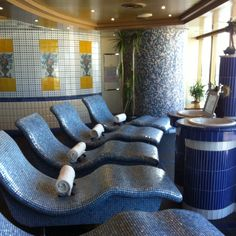 "Thermal Chairs in the spa of the Holland America Cruiselines ""Zuiderdam"""