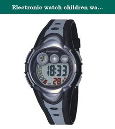 Electronic watch children watch / Girls Boys Watches / waterproof sports watch / running high school students watch-Silver and black. Watches Mirror Material: plexiglass mirror Movement Type: Electronic Watch Type: Children Style: Cute Strap Material: Rubber Shape: Round display: digital waterproof depth: 30 meters life waterproof additional features: 24 hours indicates the calendar alarm table debit formula: buckle bottom of the table type: crown type: dial thickness: 14mm dial diameter:...